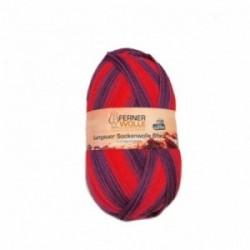 Ferner Lungauer Sockenwolle 6fach - 369/20 rot