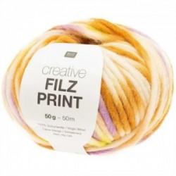 Rico Creative Filz Print 003 gelb