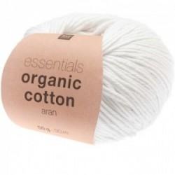 Rico essentials Organic Cotton aran 001 weiß