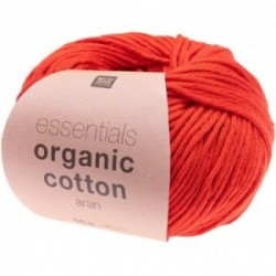 Rico essentials Organic Cotton aran 010 Rot