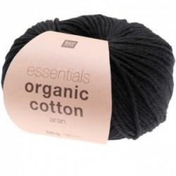 Rico essentials Organic Cotton aran 020 schwarz