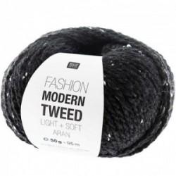 Rico Modern Tweed 010 Schwarz