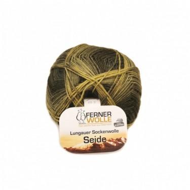 Ferner Lungauer Sockenwolle Seide - 411X20 dunkelgrün