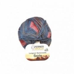 Ferner Lungauer Sockenwolle Seide - 412X20 blau-pink