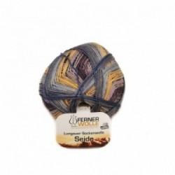 Ferner Lungauer Sockenwolle Seide - 415X20 violett-orange