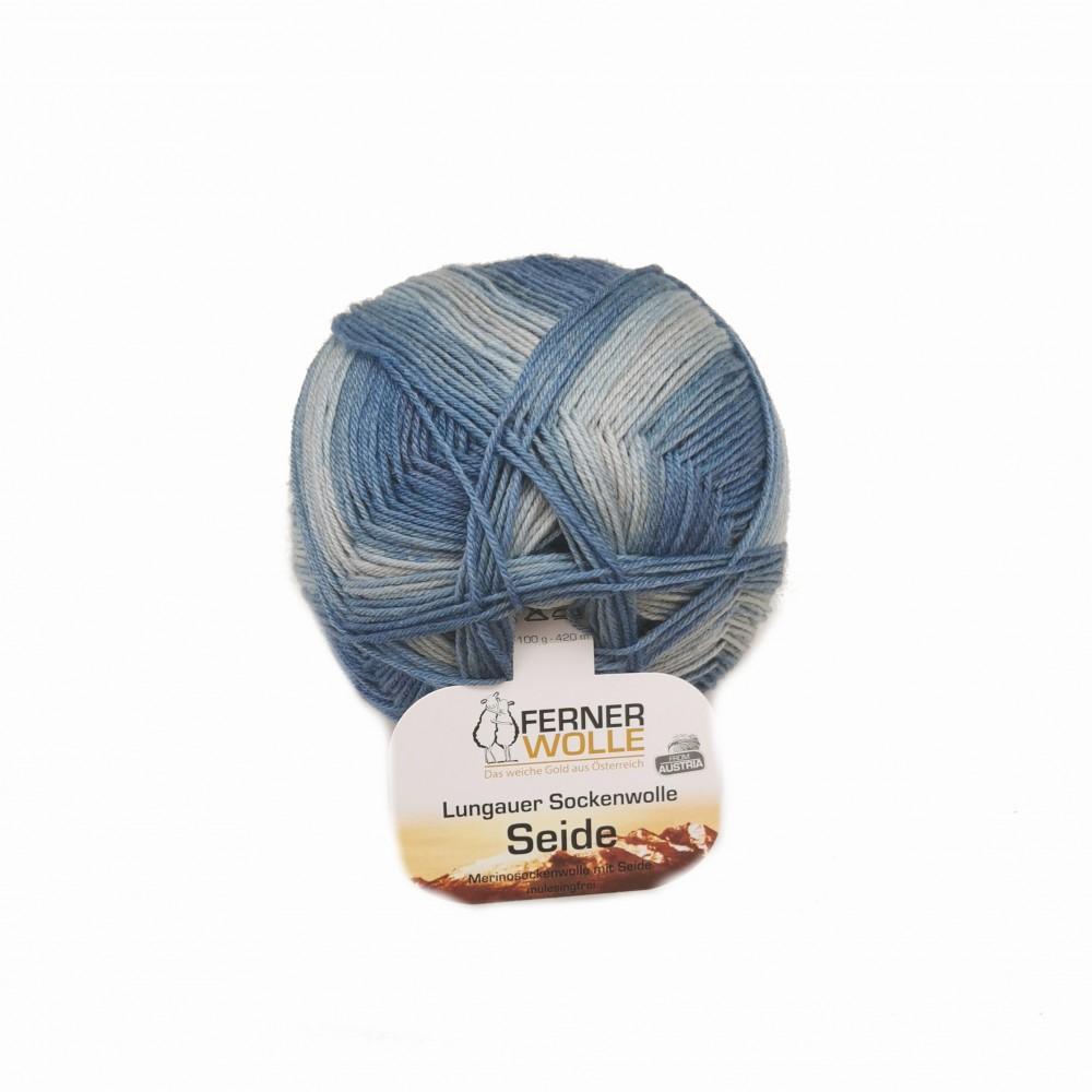 Ferner Lungauer Sockenwolle Seide - 418X20 blau