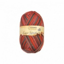 Ferner Lungauer Sockenwolle 6fach - 435/21 rot