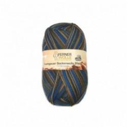 Ferner Lungauer Sockenwolle 6fach - 430/21 blau-braun