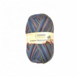 Ferner Lungauer Sockenwolle 6fach - 431/21 blau-rot