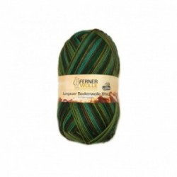 Ferner Lungauer Sockenwolle 6fach - 433/21 dunkelgrün-braun