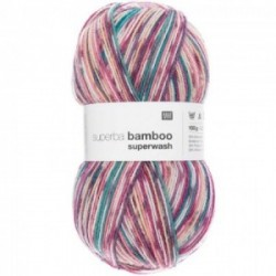 Rico superba Bamboo superwash 033 Beere-blau Mix
