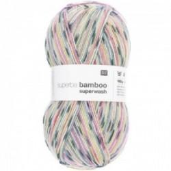 Rico superba Bamboo superwash 036 Grau-grün Mix