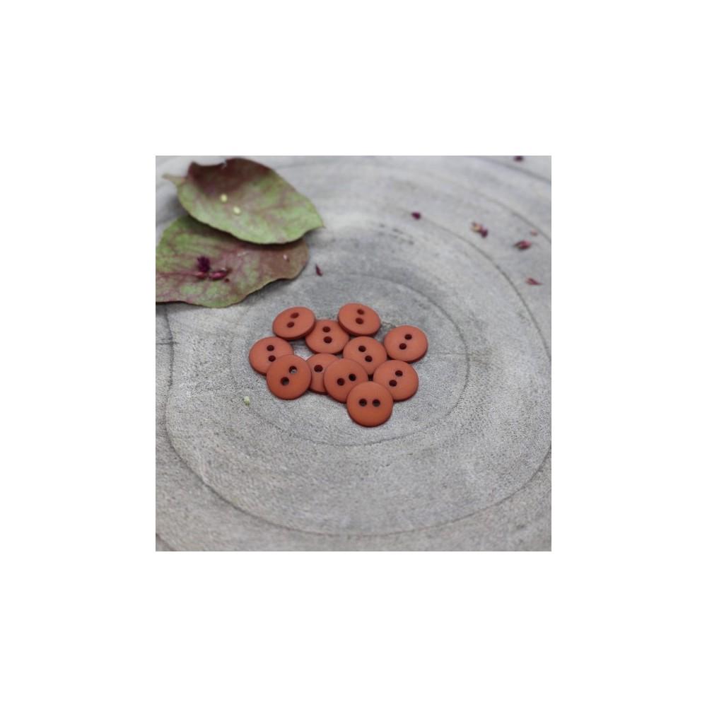 Atelier Brunette Knopf - Classic Matte Chestnut - 12 mm