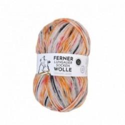 Ferner Lungauer Sockenwolle 6fach - 474/21 orange