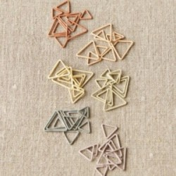 Cocoknits - Triangle Stitch Markers Earth Tones