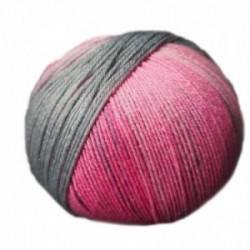 Ferner Lungauer Sockenwolle Seide - 329X20 rosa-grau