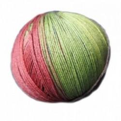 Ferner Lungauer Sockenwolle Seide - 330X20 grün-orange