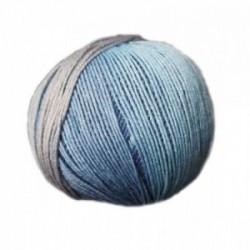 Ferner Lungauer Sockenwolle Seide - 332X20 hellblau-blau