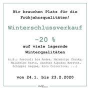 Zur Erinnerung: Unser Winterschlussverkauf läuft nur mehr bis 23.2.2020. Nutzt also noch die Chance um euch mit winterlicheren Qualitäten einzudecken!⠀⠀⠀⠀⠀⠀⠀⠀⠀ ---- ⠀⠀⠀⠀⠀⠀⠀⠀⠀ #maschenwerkstattgraz #maschenwerkstatt #wolle #stricken #abverkauf #sale